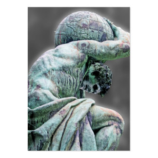 Bismarck Statue, Berlin, Greek God Atlas, Grey Bac Business Card Template