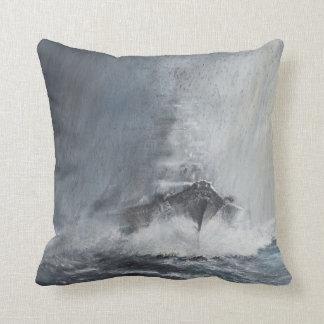 Bismarck through curtains of rain sleet cushion