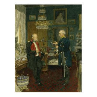 Bismarck with Emperor Wilhelm I Postcard