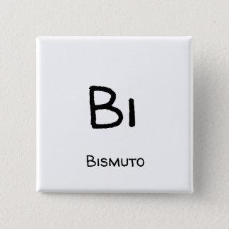 Bismuto - Bi 15 Cm Square Badge