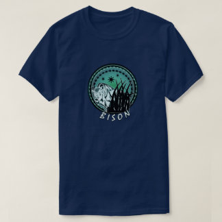 Bison - American Buffalo Aqua Blue T-Shirt