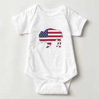 Bison - American Flag Baby Bodysuit
