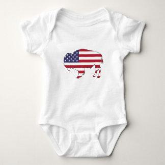 Bison - American Flag Baby Bodysuit