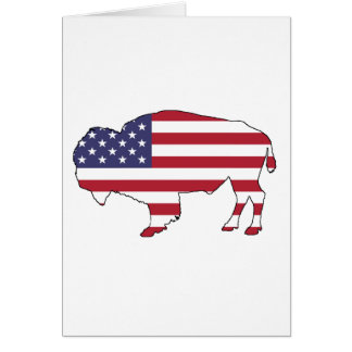 Bison - American Flag Card
