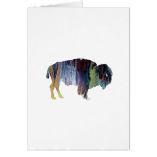 Bison art card