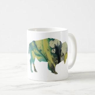 Bison art coffee mug