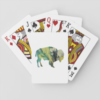 Bison art playing cards