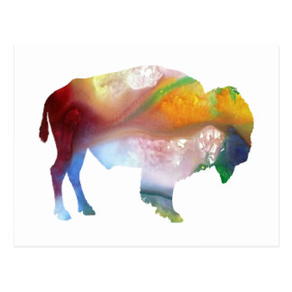 Bison art postcard