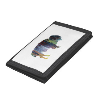 Bison art tri-fold wallet