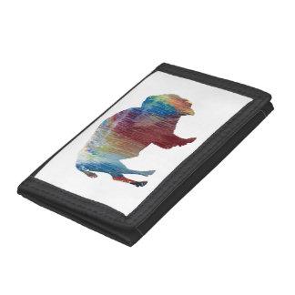 Bison art tri-fold wallets