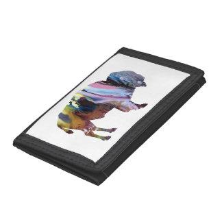 Bison art trifold wallet