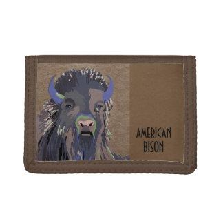 Bison Buffalo Tri-Fold Wallet