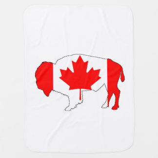 "Bison ""Canada"" Baby Blanket"