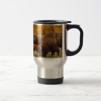 Bison Family Nation Travel Mug