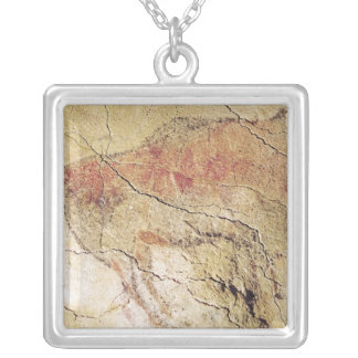 Bison from the Caves at Altamira, c.15000 BC Silver Plated Necklace