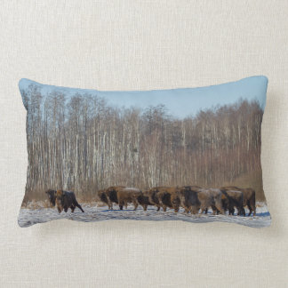 Bison Herd Lumbar Cushion