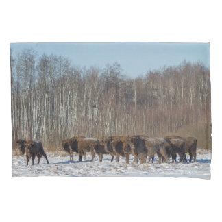 Bison Herd Pillowcase