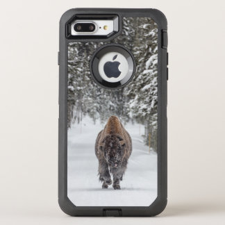 Bison in Snow Photo OtterBox Defender iPhone 8 Plus/7 Plus Case
