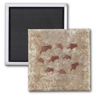 Bison Petroglyphs Magnet