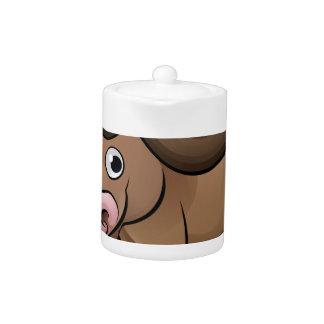 Bison Safari Animals Cartoon Character