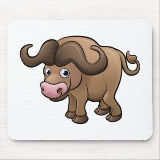Bison Safari Animals Cartoon Character Mouse Pad