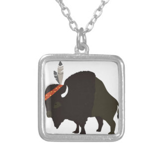 Bison Silver Plated Necklace