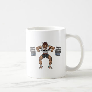 bison weight lifter coffee mug