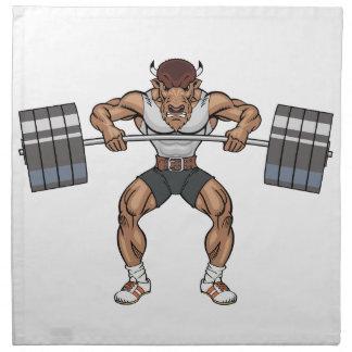 bison weight lifter napkin