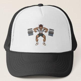 bison weight lifter trucker hat