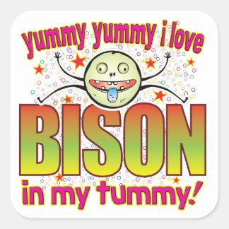 Bison Yummy Freak Square Sticker