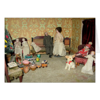 Bisque Dolls at Christmas Card - Customizable