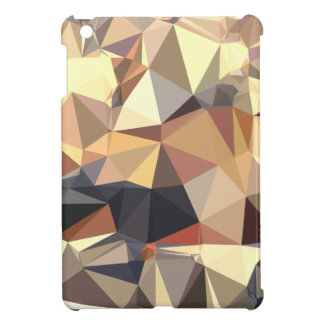 Bisque Gray Abstract Low Polygon Background iPad Mini Covers