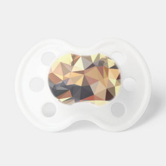 Bisque Gray Abstract Low Polygon Background Pacifiers
