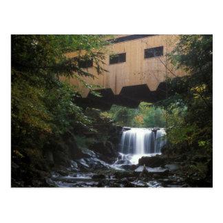 Bissell Covered Bridge Mill Brook Postcard