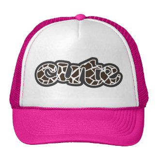 Bistre Brown Giraffe Animal Print Mesh Hat