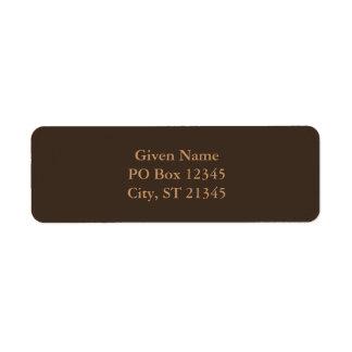 Bistre Brown Return Address Label