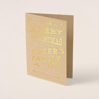 Bistro Chalkboard Christmas Typography Design Card