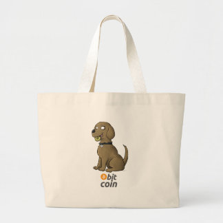 Bit Coin Large Tote Bag