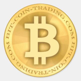 Bit-coin-trading.com Logo Round Sticker