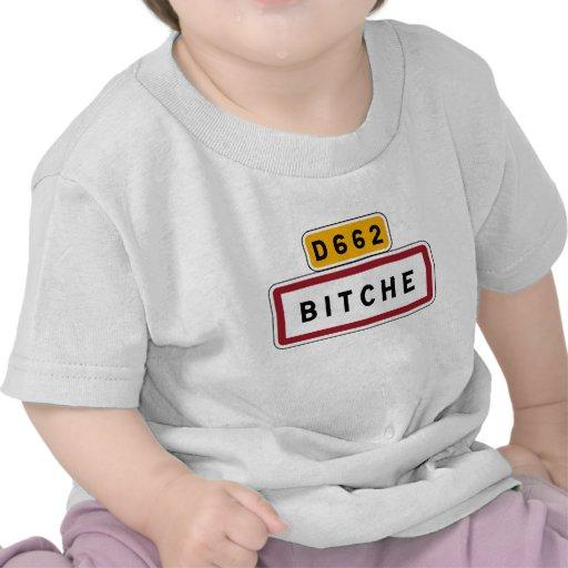 Bitche, Road Sign, France Tee Shirt