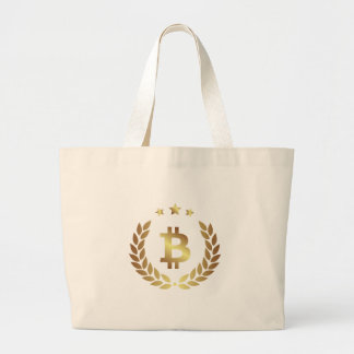 Bitcoin 12 large tote bag