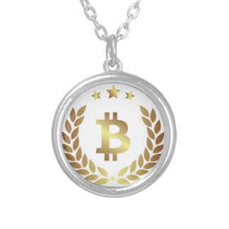 Bitcoin 12 silver plated necklace
