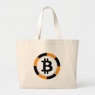 Bitcoin 13 large tote bag