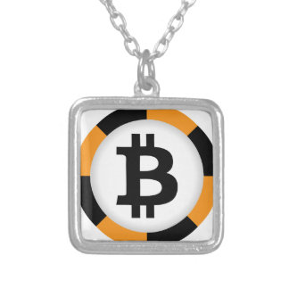 Bitcoin 13 silver plated necklace