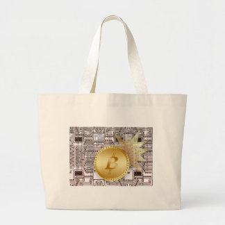 Bitcoin 18 large tote bag