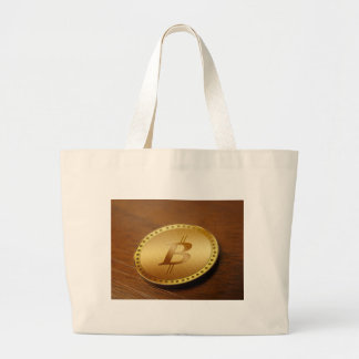 Bitcoin 2 large tote bag