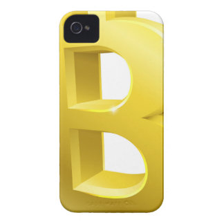 Bitcoin 3d Gold Sign Symbol iPhone 4 Case-Mate Cases