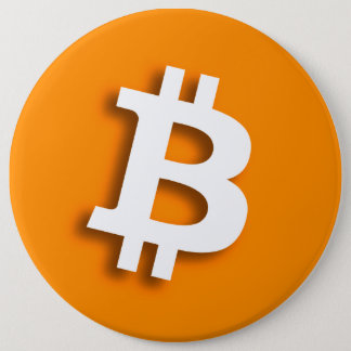 """BITCOIN"" 6-inch 6 Cm Round Badge"