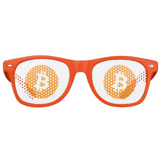 Bitcoin Adult Retro Party Shades, White Retro Sunglasses