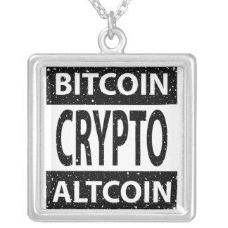Bitcoin Altcoin Crypto Silver Plated Necklace